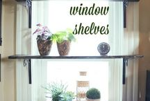 Widow shelves for plants