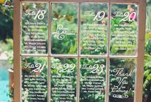 Tableplans / Bespoke tableplans to delight your guests