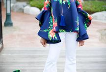 Rock the Bells! Cascading Sleeve Top & Extreme Bell Bottoms / Floral Top with Cascading sleeve and extreme bell bottom jeans!