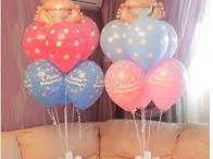Decoración de bebé con globos