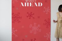 Holiday Backdrops / Photo booth backdrops for the holidays!