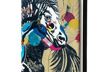 Notebook Cover - For I Love Horses / Leather Notebook Cover for Women, Limited Edition Designer Leather Notebook Cover COLOURS OF MY LIFE - Limited Edition wearable art signed by Anca Stefanescu.