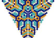 KORÁLKY_trojúhelníky / návody jak na trojúhelník z korálků + vzory