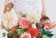 Wedding // Bridal Bouquets / A collection of beautiful bridal bouquets, for different seasons and different weddings. I love the different colors and textures and how the flowers underline and enhance each particular wedding dress.
