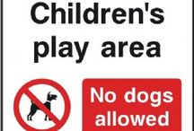 """Parks & Play Area signs / The new Parks and play area signs from The Sign Shed are produced in accordance with the Occupiers Liability Act 1957. This details the use of """"correct and adequate signage"""".  Examples of Play area signs include the use of prohibition signs such as No ball games signs, No running signs and No skateboarding/rollerblading signs."""