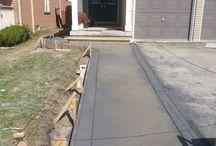 Concrete Driveway Extension, Walkway & Backyard Installation – Mississauga, Ontario