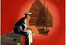 Patrick Jusseaume - Tramp - Original Art / Planches et dessins originaux de Patrick Jusseaume, auteur notamment de la série Tramp (éditions Dargaud).