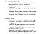Autism goals / IEP goals