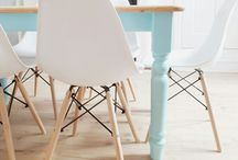 My Pastel dining room / Pastel light and bright colourful  dining room