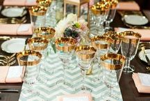 Gold, Salmon and Mint wedding