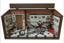 Diorama Oficina Moto BMW 1200 Out/13