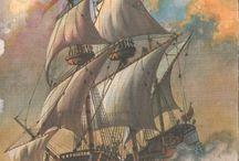 Battle Ships Engraving
