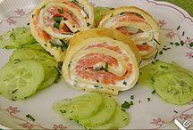 Pfanne Kuchen Lachs