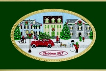 2013 Brett Christmas Card Collection / Brett Christmas Cards, for many, are a holiday tradition anticipated by senders and recipients alike. Arguably the finest retail boxed Christmas cards available, each Brett Christmas card features an detailed and richly colored hand woven jacquard tapestry panel depicting iconic holiday scenes and symbols.