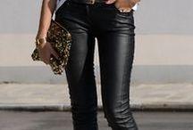 Looks calça em couro