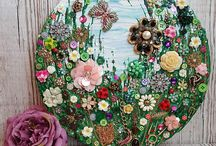 Vintage Jewellery Art / Beautiful art created from vintage and costume Jewellery, some are my creations and lots of other very talented artists too.