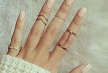 6 Piece Gold Plated Leaf Ring Set