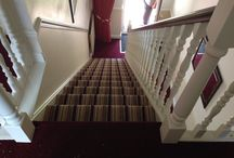 Striped carpet / Striped carpet can transform a hallway into something contemporary and vibrant.