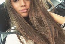 brown hair/ hairstyles