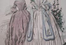 1840-1860 fashion catalog illustration