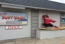 Gordy's Surf Shack / Flip flops, no flops, we don't care! Swim suits welcome! / by Gordy's Marine