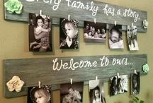 Family Photo Display / Get as creative as you want with this board of ideas for displaying photos of your precious memories, From boards to hangars you will find tons of terrific ways to display your photos!