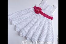 vestidos croche infantil