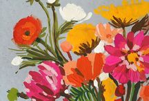Fine blomster / Denne tavlen handler om veldig mange fine blomster