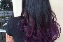 balayage color blue purple