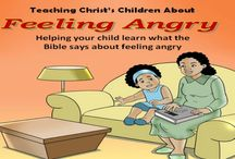 Teaching Christ's Children About Feeling Angry / Does your child have trouble expressing their anger? Do they call names when angry or hit when mad? Teaching Christ's Children about Feeling Angry helps children understand and manage the difficult emotion of anger from a biblical perspective. #angerbook #Christianbook #Christiankids