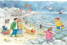 Wanitathema strand en zee