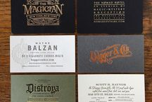 business cards, brand book