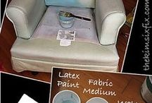 Fabric painting upholstery