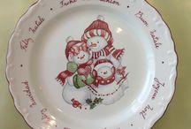 peinture sur porcelaine Noël