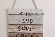 Sun Sand Surf Smile Beach Sign is a perfect gift for the beach lover of positive affirmations / Hand crafted beach sign with a positive twist!