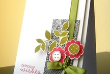 Card Compositions that Inspire / Cards like these make me want to get into my studio for some serious stamping!