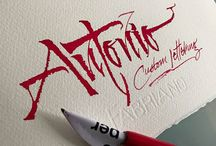 Antonio Cosimo - Masonry / Massoneria Creativa / Calligraphic design of Antonio Cosimo - Masonry / Massoneria Creativa