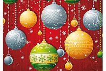 Cartes de vœux de Noël et nouvel an / Dans ce tableau, vous trouverez plusieurs modèles de cartes de vœux à imprimer pour les fêtes de Noël et du Nouvel An. Elles sont joliment décorées et illustrées avec de beaux dessins coloriés.