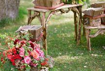 Wedding decoration garden / Decoração de casamento no campo. Wedding garden decoration.