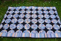my quilts - moje deky / black stars