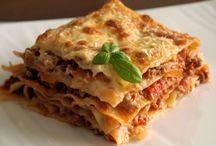 Lasagne, cannelloni, sauce bolognaise