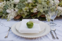 Green Wedding detail / Green wedding ideas including bespoke wedding stationery