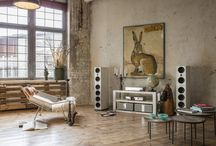 Burmester Living / Burmester Set-Ups in modern living rooms: A work of art in acoustic and optic. Burmester products combine breathtaking sound with timeless design.