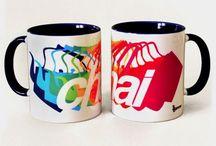 Fun Ceramic Mugs.Its Chai Time. / Fun Ceramic Mugs by Sparrow Design Firm