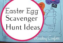 Easter egg scavenger hunt / by MaryAnn Urbanik