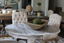 Dining table chalk paint