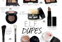 Makeup and beauty dupes
