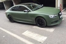 Military green car wrap / Audi a5 sportback military green wrap