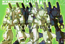 Katoki Hajime GFF / Diseños de Katoki Hajime para la linea de figuras GFF y sus variantes.