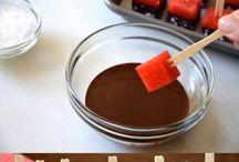 Fructe glazate in ciocolata